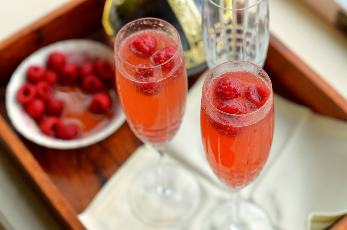 Raspberry Bellini fresco y frutal