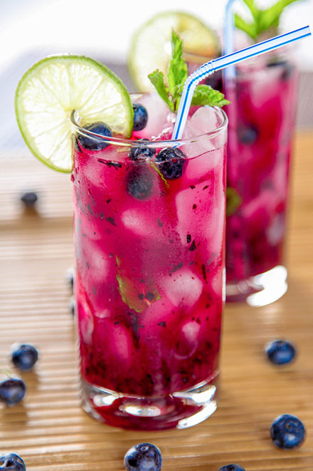 Mojito de Blueberry, ideal para compartir