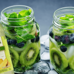 Mojito de Kiwi y Blueberries